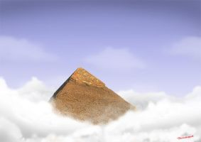 Pyramid in the sky by GevallenEngel