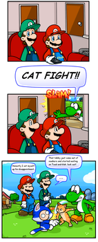 Random Short: Can I haz fight by Nintendrawer