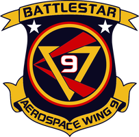BSG Battlestar Aerospace Wing 9 Insignia by viperaviator
