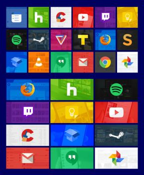 Modern Tiles Full Set 01 (Windows 10) by JSFeliciano