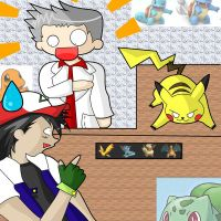 Pokemon :Ash gets Pikachu: by Anaxandreah