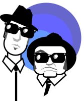 jake and elwood blues by markcrossey