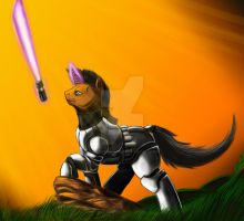 Clone trooper pony by Exelzior-Maximus
