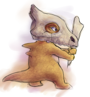 Cubone in Training by MelvisMD