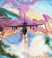 Lockheed AC-130- for Mitch S. by napalmzonde