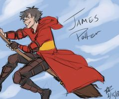 HP Doodles: Flying James by Fuon-Shiheki