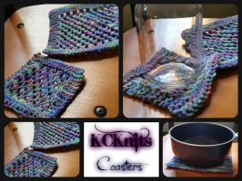 KCKnits Large and Small Coasters by KCKnits
