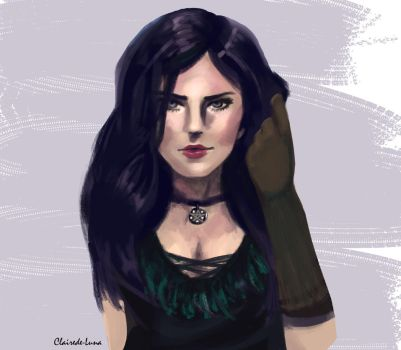 Yennefer Portrait by ClaireDe-Luna