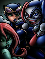 Gotham City Sirens Colors by D3RX
