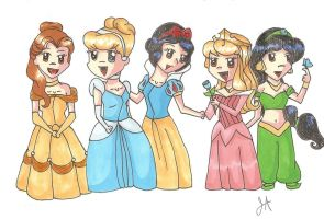 Disney's Princesses by BleedingStarz