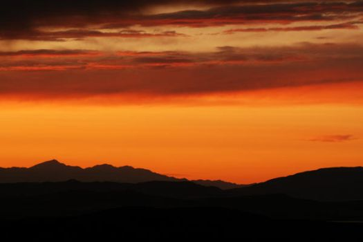 tangerine sunset by kariannphotography
