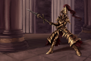 Dragon Slayer Ornstein by Blackash