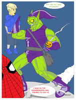 Green Goblin in color part one by illahstrait