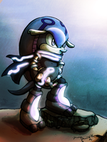 Somber The Armadillo .:SWAP COLLAB:. by Solbliminal