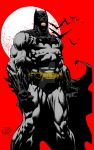 Batman and The Moon by David Finch (Colored) by TheComicBookMaster