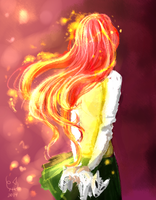 Antimony Carver - Fire head girl by Urani-a