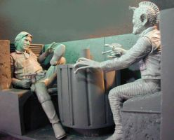 Han and Greedo Bookends by GabrielxMarquez