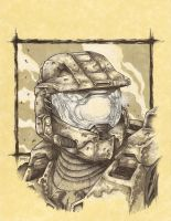 Masterchief sketch by joshmedorsart