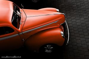 orange ford rod by AmericanMuscle