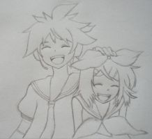 Rin and Len Kagamine by cheekygirl-1997