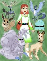 Me As Trainer And Favorite 6 Pokemon color  dun by daylover1313