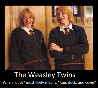 The Weasley Twins by PadfootsStar