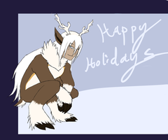Happily holidays from everyone's fav troll fox by Kuroleopard