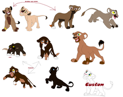 More Lion adoptables by Slyryn