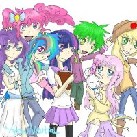 MLPFIM- Humans by HezuNeutral