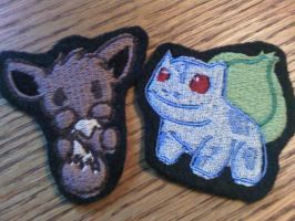 Bulbasaur and Eevee patches by Whyte-Raven