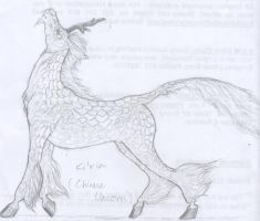 Chinese Unicorn by Dhria