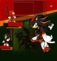 Knuckles and Shadow Free YT bg by demeters