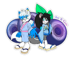 Comm. Food Sticker. Axl and Guin by 13VOin