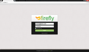 FireFly website - Login Page by air-t