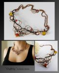 Oighrig- wire wrapped copper necklace by mea00