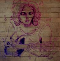 Musical Satyr On The Wall by Jessica-Lorraine-Z