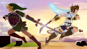 Link vs Pit by Silent-Shanin