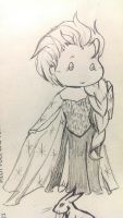 Work doodle 031914 - Elsa by StrigineSensibility