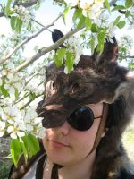 Black Coyote Headdress - For Sale! by SPWilder