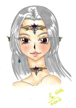 Edith- the beautiful elf by Pixiepastel94