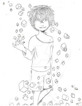 X lineart - Dice: The cube that changes everything by FedericoMex