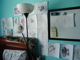 I've decorated my wall! by 1000VoltFox