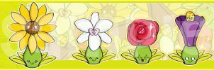 Flower Family in Bookmark by meiji1990