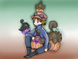 Calem and Pumpkaboo-2 by Phyllocactus