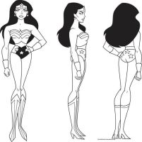 Wonder Woman Model Sheet by Nes44Nes