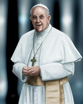 Pope Francis by TheArtofScott
