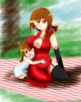 CR - Adult Airia and Her Beloved Daughter by RenFortineri