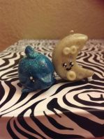Kawaii Friday Polymer Clay Dolphin and Moon by Scutterland