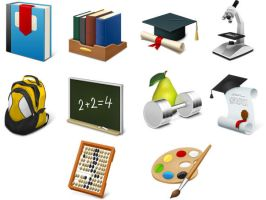 Desktop Education Icons by FreeIconsFinder
