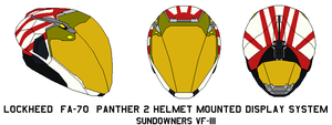 Panther 2 Helmet vf 111 sundowners by bagera3005